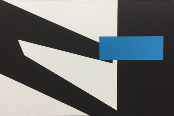 Black, White, Blue (Portal 7) - art for sale
