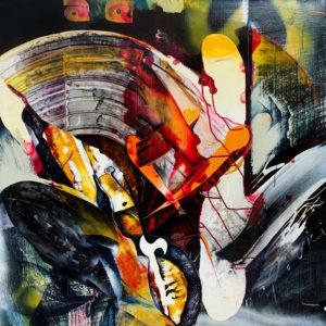Abstract art Coloured Shadows 2