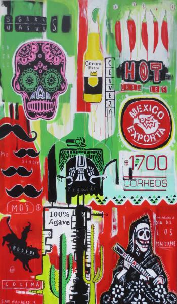 NZ Art Five Hot Chillies by Sam Mathers