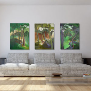 NZ Art Kanuka Triptych