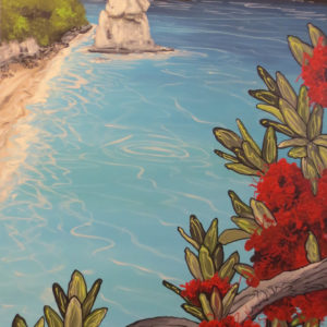 NZ Art Pinnacle at the cove by Janine Prowse