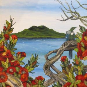 Rangitoto Island NZ Art - Mobile Art Gallery