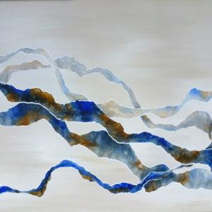 Ribbons 2 Judy Wood NZ Art Abstract Art