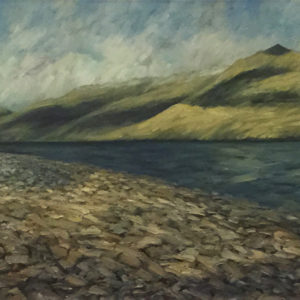 Contemporary Landscape Rocky Shore Lake Wanaka
