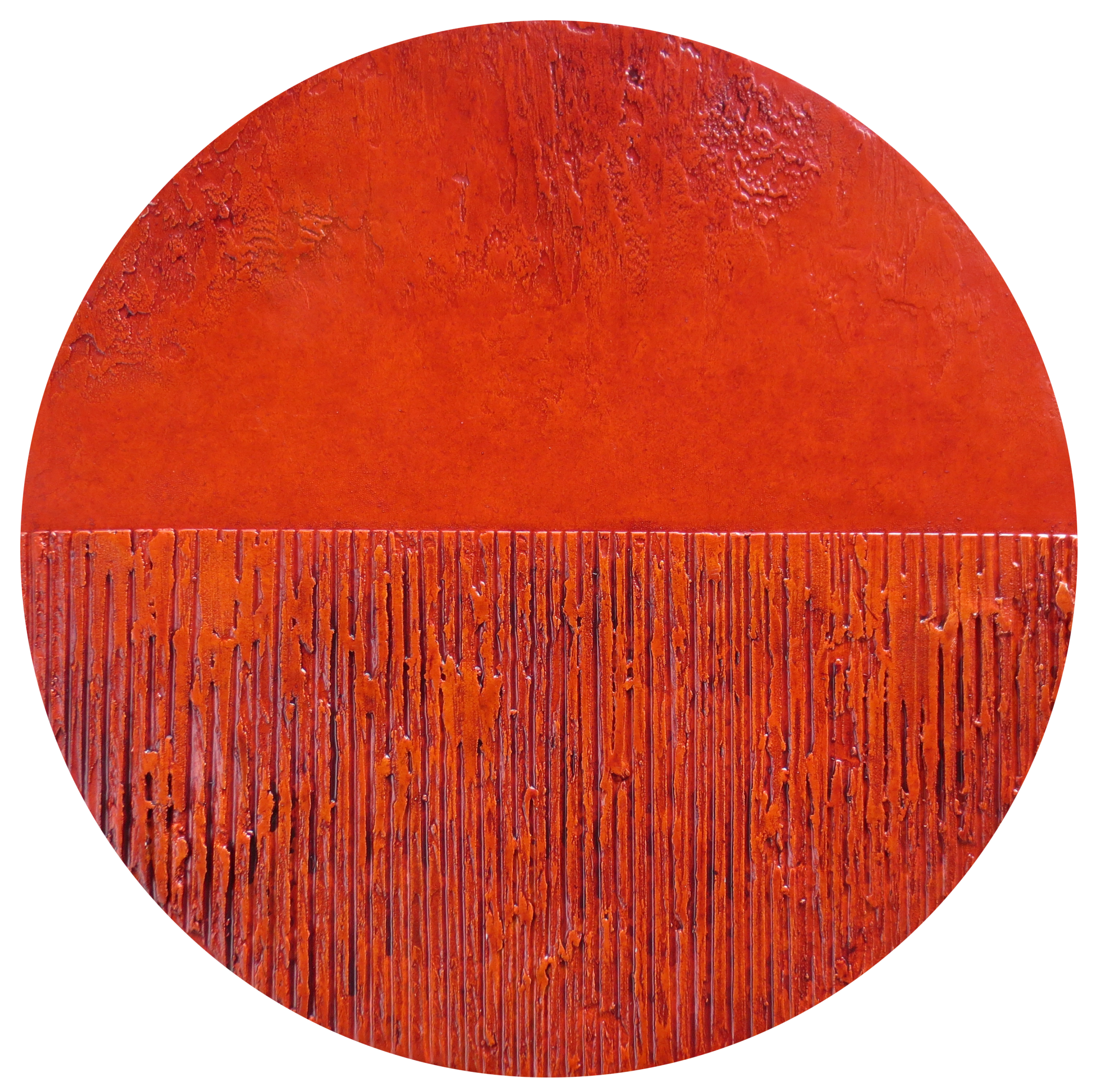 Abstract art Small Orange Round 3 by Patterson Parkin