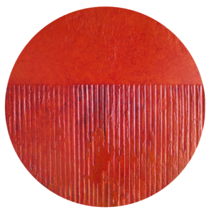 Abstract Art Small Orange Round 2 by Patterson Parkin