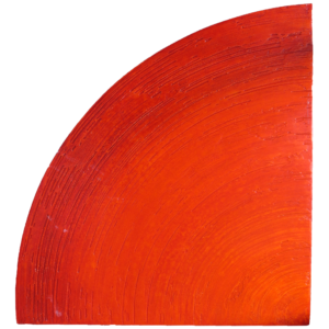 Abstract Art Triangle 3 Red by Patterson Parkin