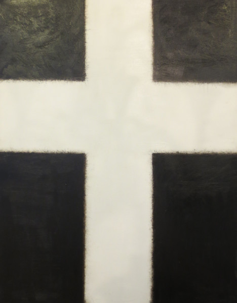 Large Art White Cross by Donna North