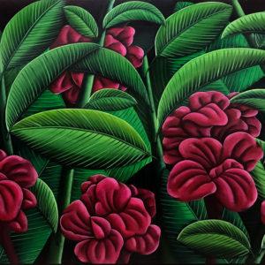 NZ Art Wild Tropical Flowers