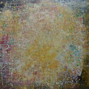 Abstract Art - Yellow Splash - Jody Hope Gibbons - Mobile Art Gallery