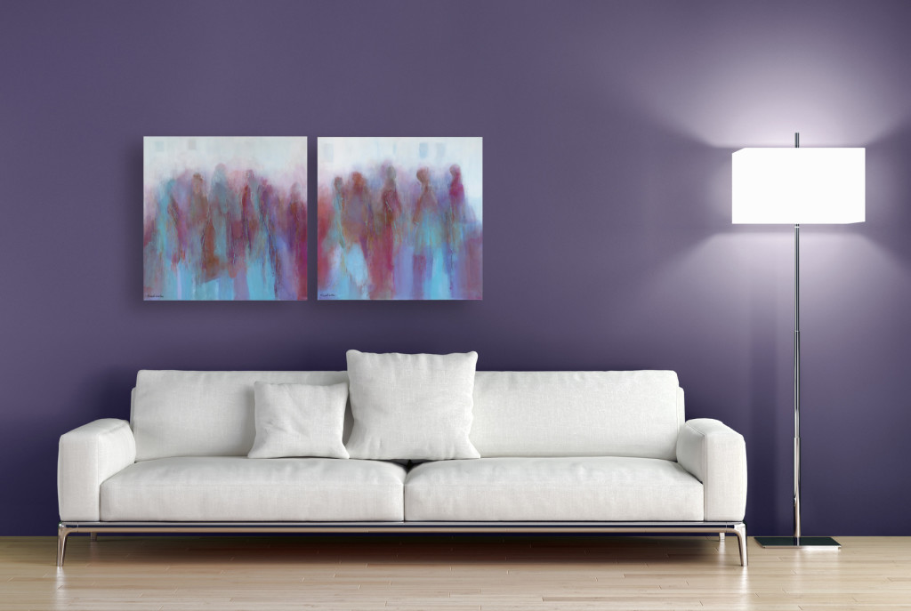 SIZE MATTERS | Colours of India diptych | NZ Contemporary Painting | Art Sale | Art Rent