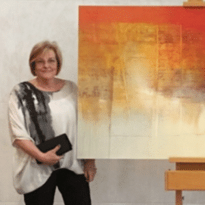NZ Abstract Artist Bee Doughty-Pratt's Painting for Retiring Governor General