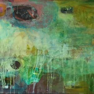 Abstract Art - Emerald - Mobile Art Gallery
