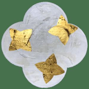 NZ Artwork - Quatrafoil Gold - Mobile Art Gallery
