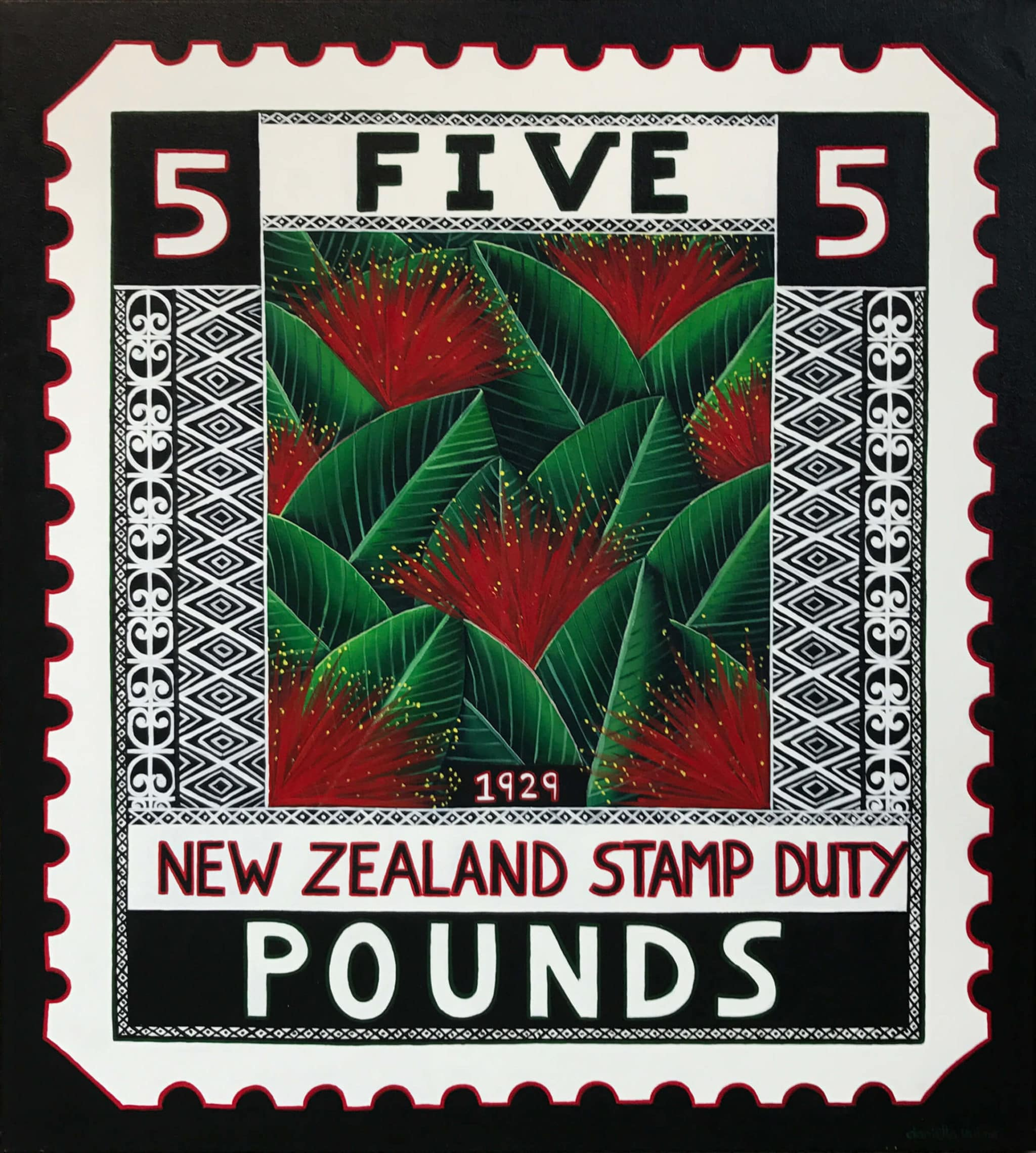 NZ Art Pohutukawa 1929 by Danielle Hulme