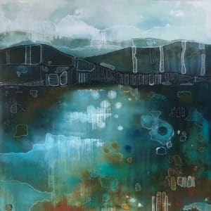 Contemporary Landscape Still Water by Julie Whyman