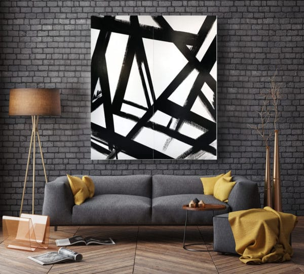 Black and white art - Truss