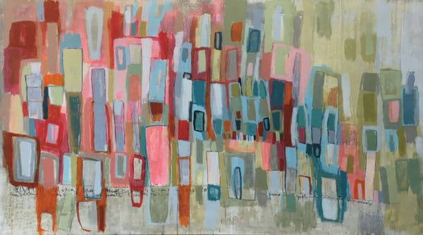 Abstract Art - El Tuerto es Rey by Constanza Briceno