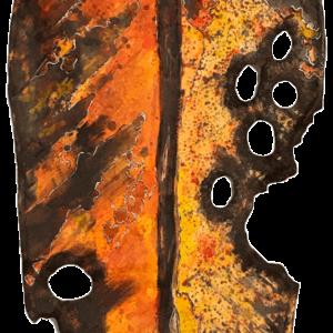 NZ Art Archetypal Leaf - Orange 1 by Liz McAuliffe