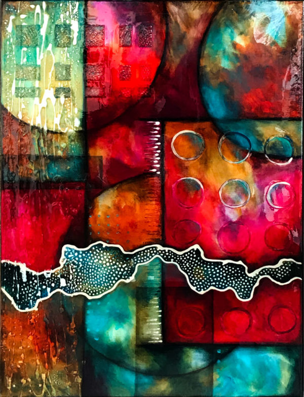 Abstract Art Convergence by Clare Wilcox