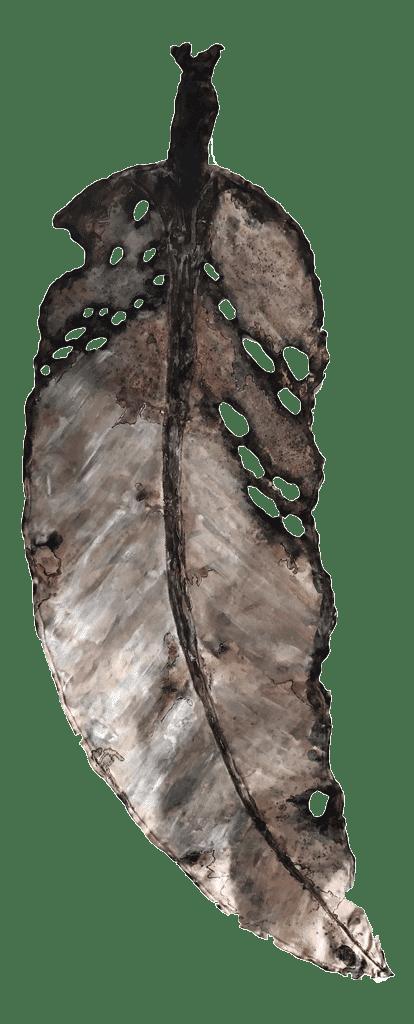 NZ Art Gondwana Leaf Beige by Liz McAuliffe
