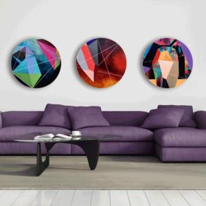 NZ Art Triple Quartz by Rebecca Tune
