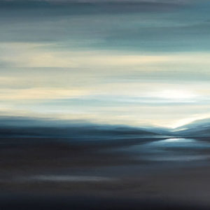 Contemporary Landscape Blue Dawn by Tut Blumental