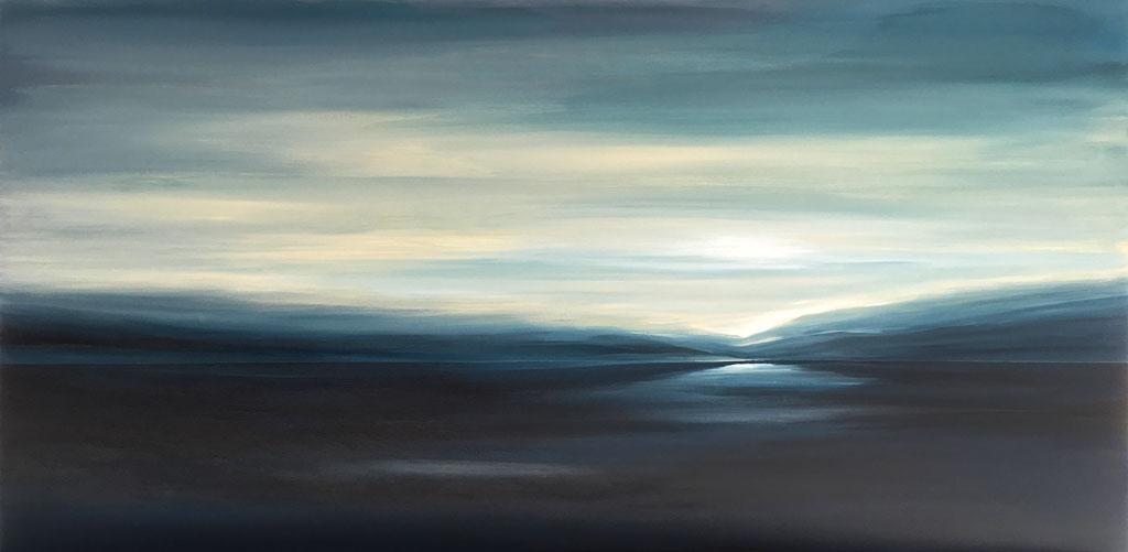 Contemporary LandscapeBlue Dawn by Tut Blumental
