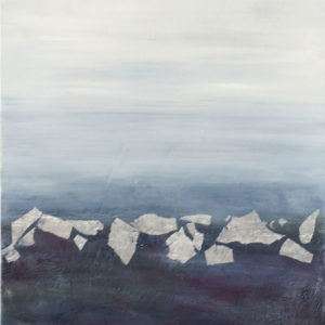 NZ Artists Blue Ice by Judy Wood