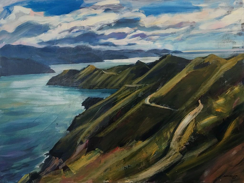 Painting Interior House Nz Landscape French Pass Marlborough Sounds By John Horner