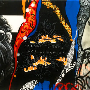 Graffiti ArtNot My Monkey by Rachel Rush