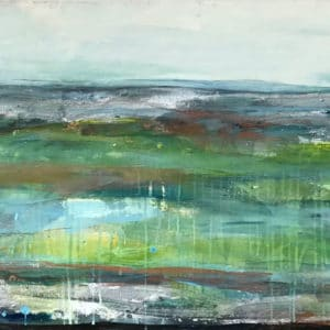 Contemporary Landscape Sea Green by Jody Hope Gibbons