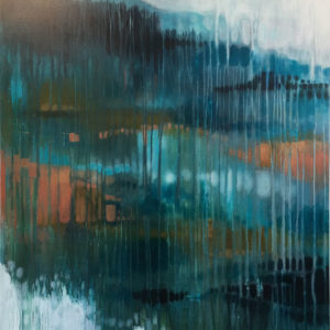 Contemporary Landscape Through the Window 1 by Julie Whyman