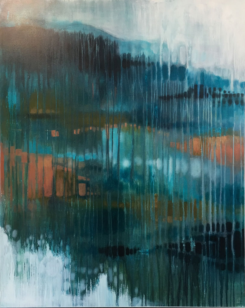 Contemporary Landscape Through the Window 1by Julie Whyman