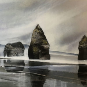 NZ landscape Elephant Rock by Jill Perrott