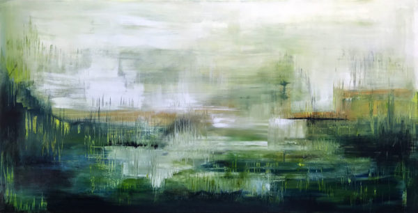Contemporary Landscape Where Angels Play by Tina Ross