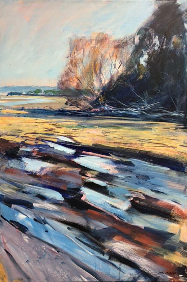 NZ Landscape - Fallen Tree, Bayswater by John Horner