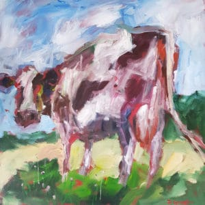 Farm animals - Friesian Cow by Pauline Gough