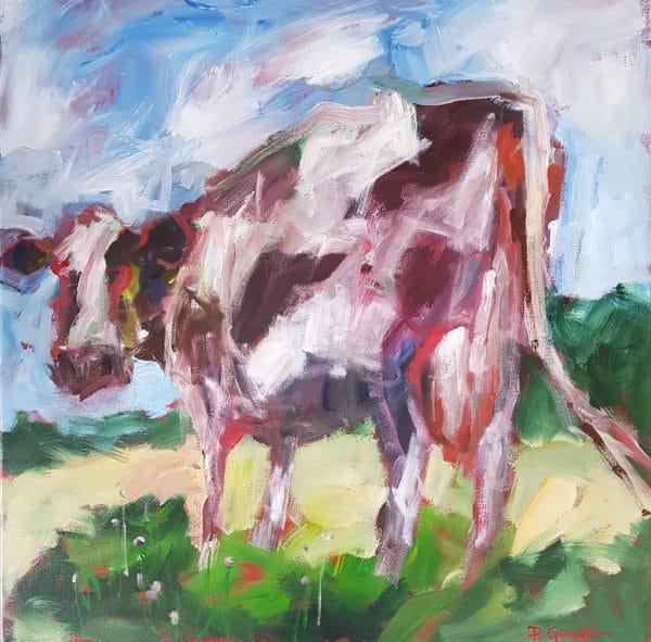 Farm animals - Friesian Cow by Pauline Gough