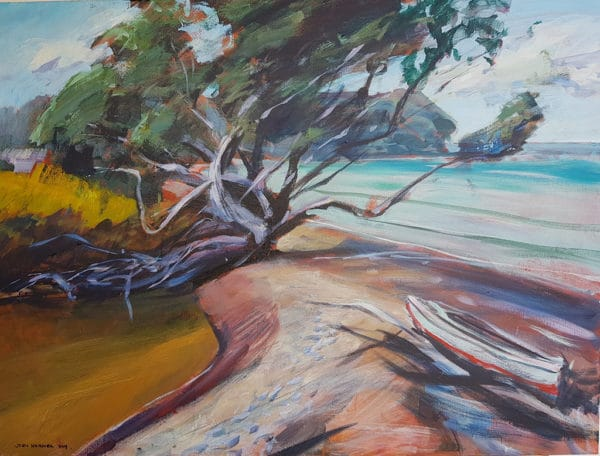 NZ Landscape - Old tree, Matakana by John Horner