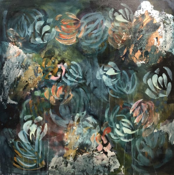 Abstract art - Floral Fancy by Jody Hope Gibbons