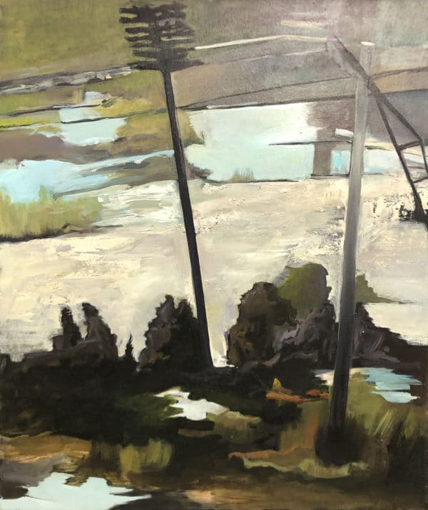 Landscape with an abstract quality - Puddles by Bianca van Rangelrooy