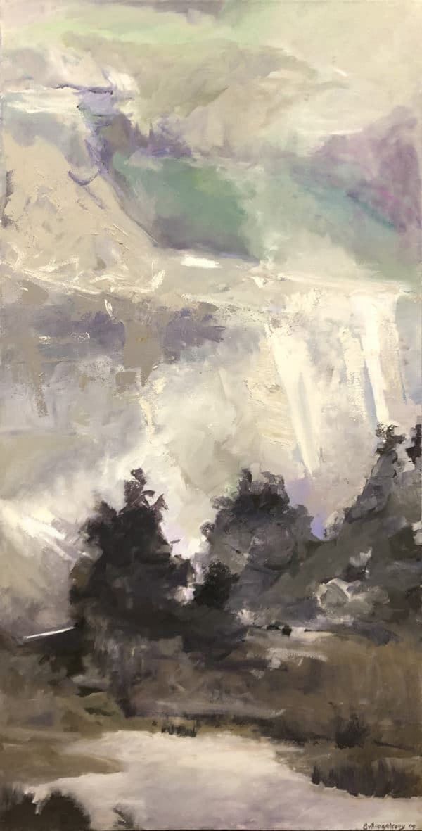 Landscape with an abstract quality - Scree by Bianca van Rangelrooy