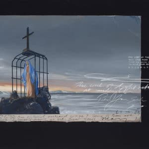 NZ Landscape -Our Lady of the Snows by Peter James Smith