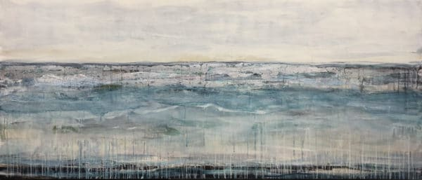 Contemporary Landscape - Blue Waters by Jody Hope Gibbons