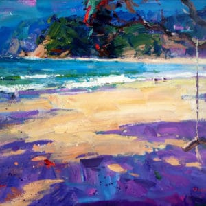 Landscape - Langs Beach Summer by Richard Robinson
