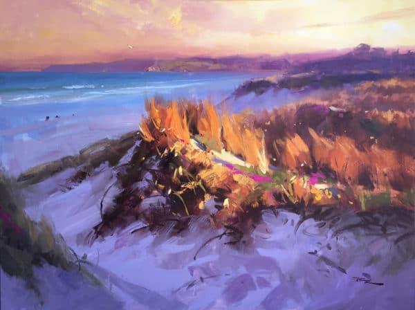 Landscape - Ruakaka Evening by Richard Robinson