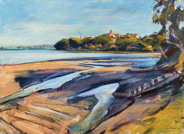 Landscape - Sugar Works from Chelsea Beach by John Horner