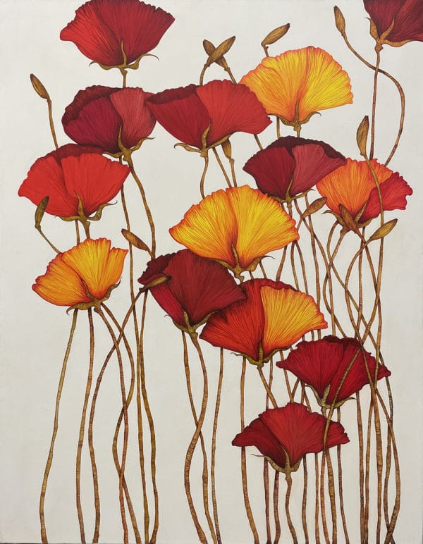 Floral painting - Poppies by Beverley Cox