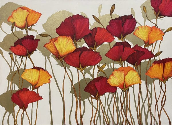 Floral painting - Shadows by Beverley Cox